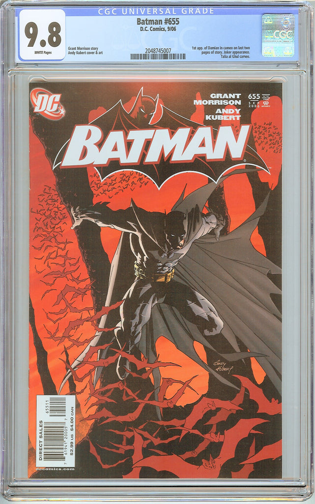 Batman # 655 CGC 9.8 White Pages 2048745007 1st Damian