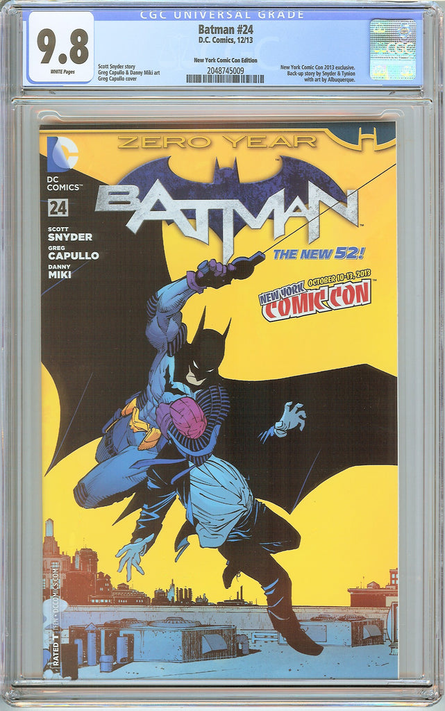 Batman #24 New 52 CGC 9.8 White Pages 2048745009 NY Comic Con Edition