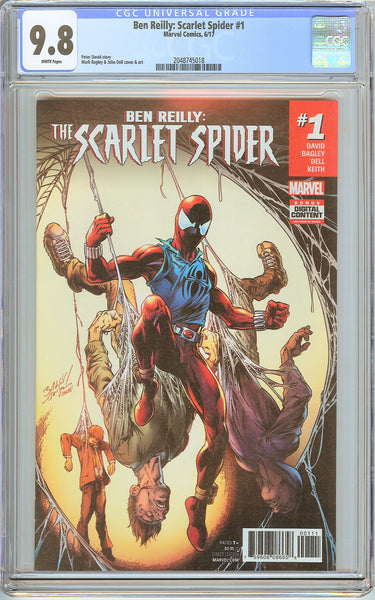 Ben Reilly Scarlet Spider #1 CGC 9.8 White Pages 2048745018