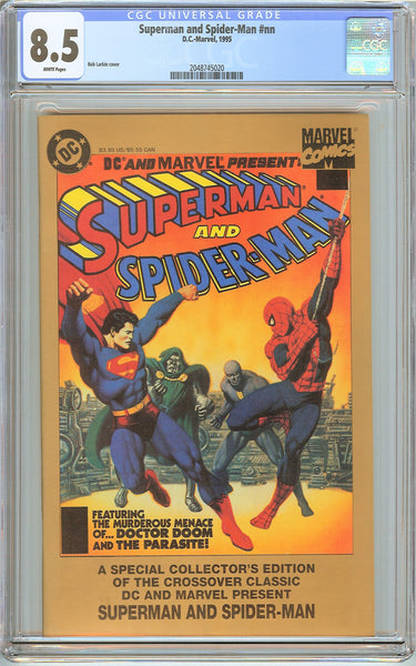 Superman & Spider-Man CGC 8.5 White Pages (1995) 2048745020