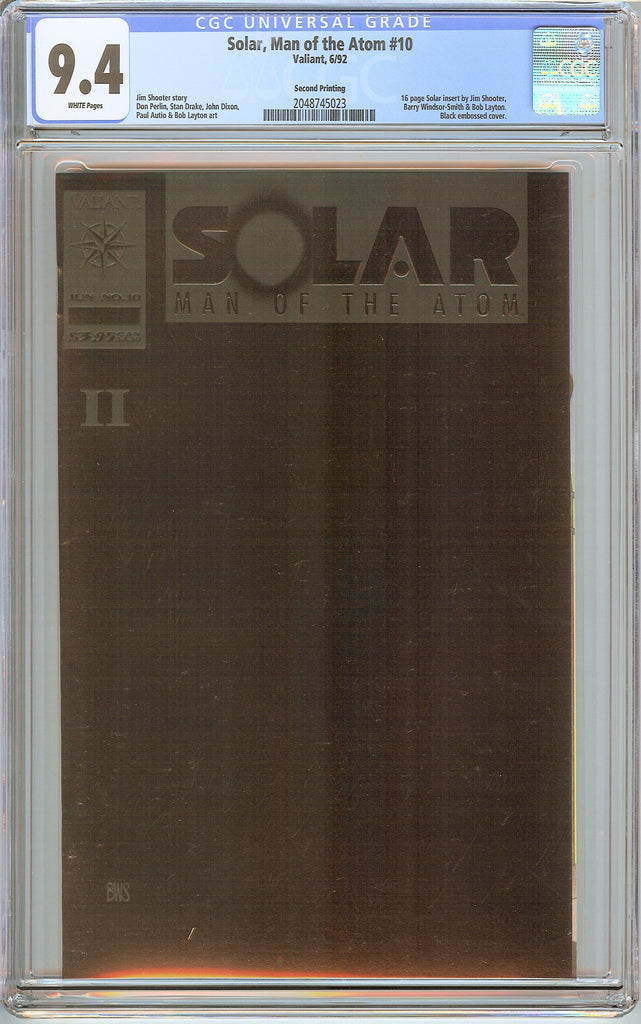 Solar, Man of the Atom #10 CGC 9.4 White Pages 2048745023 2nd Printing