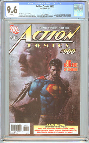 Action Comics #900 CGC 9.6 White Pages (2011) 2054378001