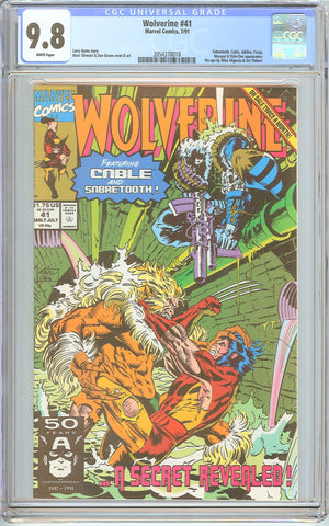 Wolverine #41 CGC 9.8 White Pages (1991) 2054378018