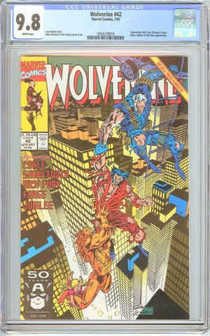 Wolverine #42 CGC 9.8 White Pages (1991) 2054378019