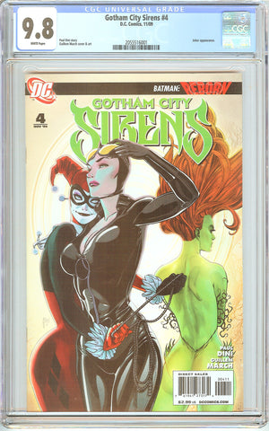 Gotham City Sirens #4 CGC 9.8 White Pages (2009) 2055516001
