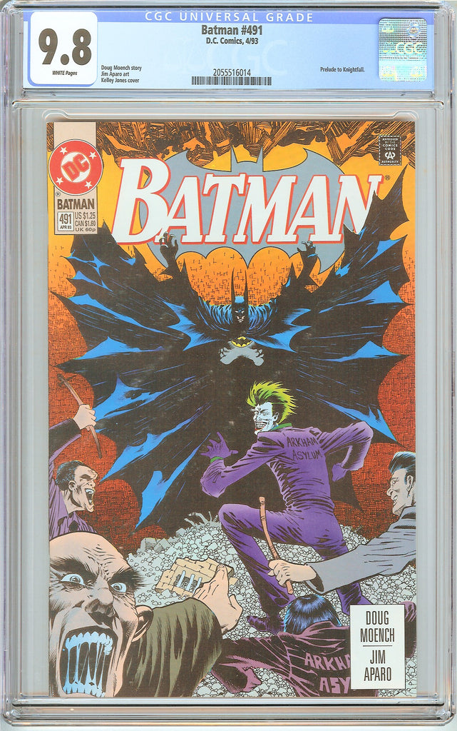 Batman # 491 CGC 9.8 White Pages (1993) 2055516014