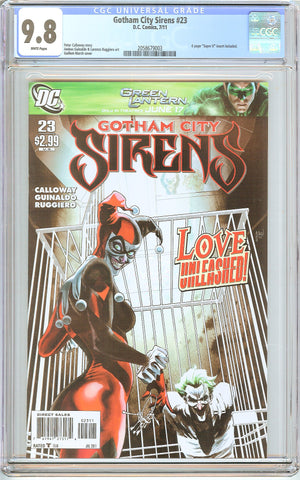 Gotham City Sirens #23 CGC 9.8 White Pages (2011) 2058679003