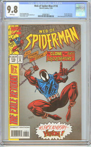 Web of Spider-Man #118 CGC 9.8 White Pages (1994) 2058679011