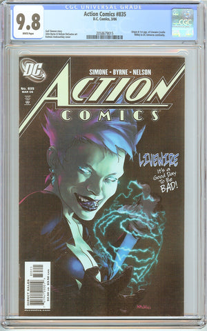 Action Comics #835 CGC 9.8 White Pages (2006) 2058679015 Livewire
