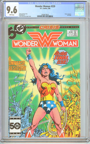 Wonder Woman #329 CGC 9.6 White Pages (1986) 2058679023 Last Issue