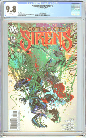 Gotham City Sirens #15 CGC 9.8 White Pages (2010) 2058699007