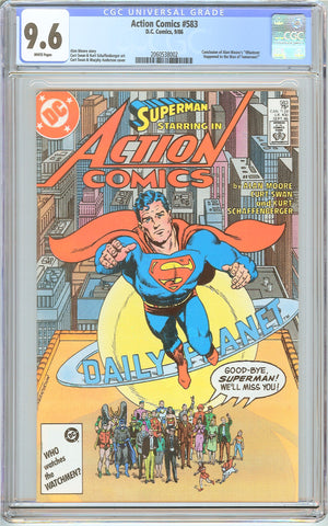 Action Comics  #583 CGC 9.6 White Pages (1986) 2060538002