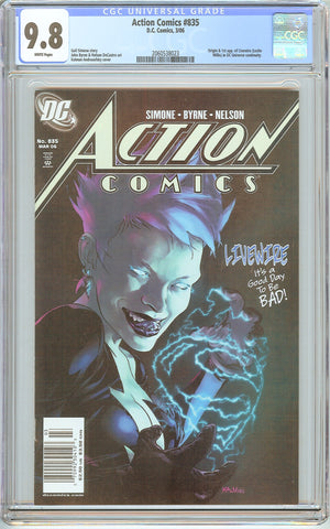 Action Comics #835 CGC 9.8 White Pages (2006) 2060538023 Livewire