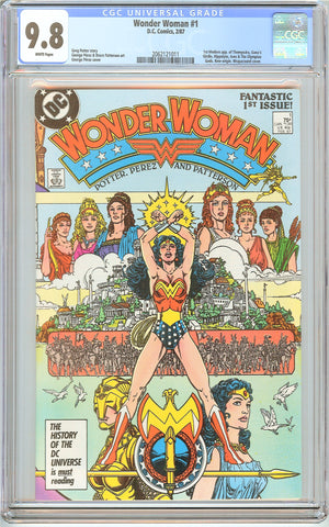Wonder Woman #1 CGC 9.8 White Pages (1987) 2062121011