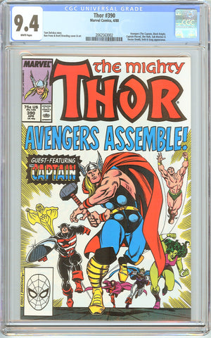 Thor #390 CGC 9.4 White Pages (1988) 2062563002