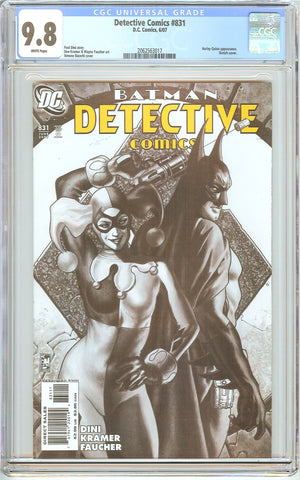 Detective Comics #831 CGC 9.8 White Pages 2062563017 Harley Quinn