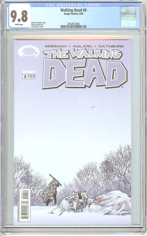 Walking Dead #8 CGC 9.8 White Pages 2062923006