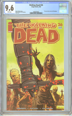 Walking Dead #26 CGC 9.6 White Pages 2062923023