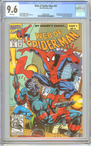 Web of Spider-Man #97 CGC 9.6 White Pages (1993) 2064582001
