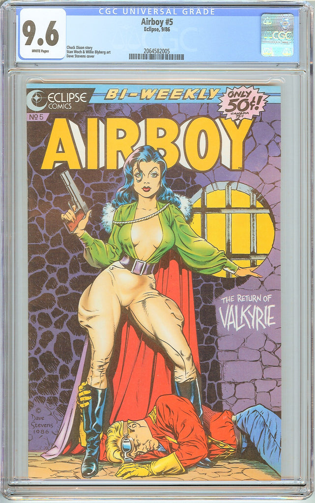 Airboy #5 CGC 9.6 White Pages (1986) 2064582005