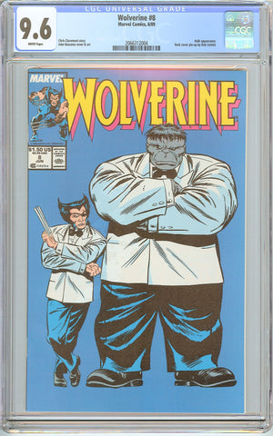 Wolverine #8 CGC 9.6 White Pages (1989) 2066312004