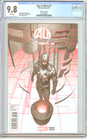 Age of Ultron #1 CGC 9.8 White Pages (2013) 2071398001 Kim Variant Cover