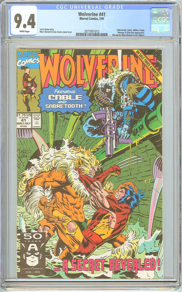 Wolverine #41 CGC 9.4 White Pages (1991) 2071951012