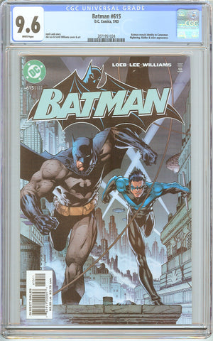 Batman # 615 CGC 9.6 White Pages (2003) 2071951024