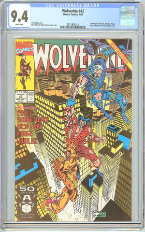 Wolverine #42 CGC 9.4 White Pages (1991) 2071954012
