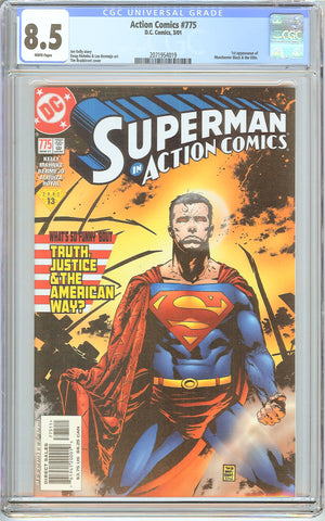 Action Comics #775 CGC 8.5 White Pages (2001) 2071954019