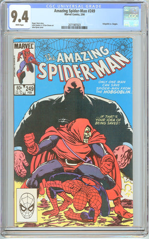 Amazing Spider-Man #249 CGC 9.4 White Pages 2071987023