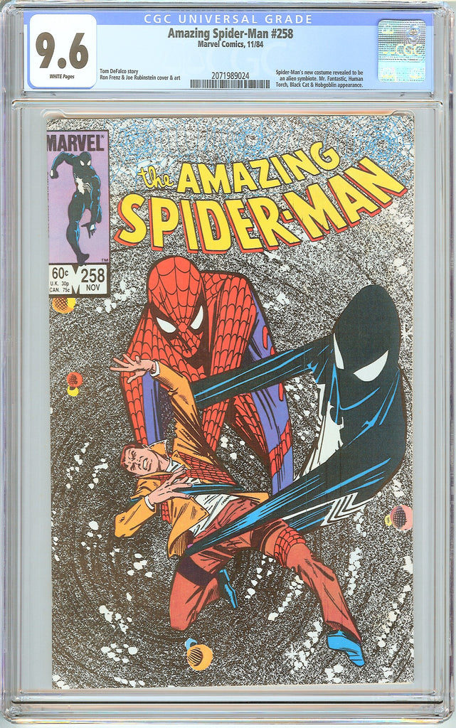 Amazing Spider-Man #258 CGC 9.6 White Pages 2071989024