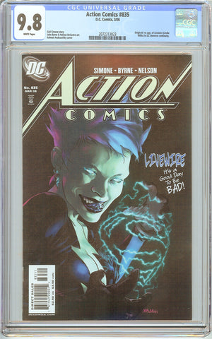 Action Comics #835 CGC 9.8 White Pages (2006) 2072313023 Livewire