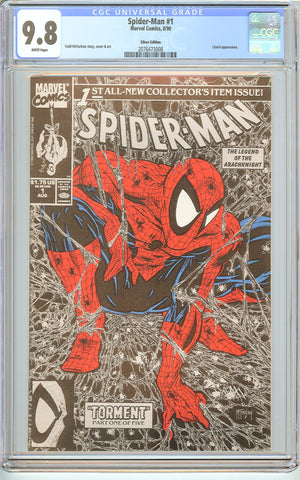 Spider-Man #1 CGC 9.8 White Pages (1990) 2076473008 Silver Edition