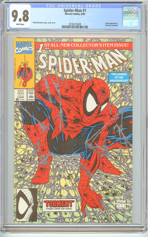 Spider-Man #1 CGC 9.8 White Pages 1990 2076473009 Poly-bag Edition