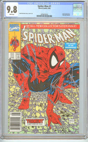 Spider-Man #1 CGC 9.8 White Pages (1990) 2076473010 Poly-bag Edition