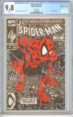 Spider-Man #1 CGC 9.8 White Pages (1990) 2076477008 Silver Edition