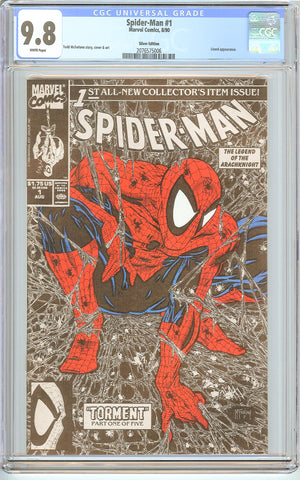 Spider-Man #1 CGC 9.8 White Pages (1990) 2076575006 Silver Edition