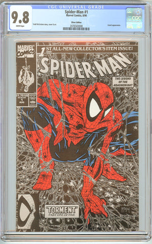 Spider-Man #1 CGC 9.8 White Pages (1990) 2076583008 Silver Edition