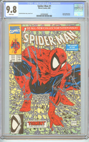 Spider-Man #1 CGC 9.8 White Pages (1990) 2076583009 Poly-bag Edition
