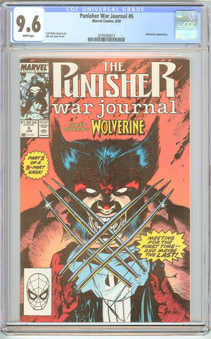 Punisher War Journal #6 CGC 9.6 White Pages (1989) 2076583012