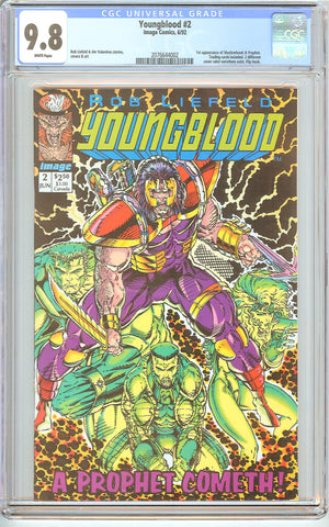 Youngblood #2 CGC 9.8 White Pages (1992) 2076644002