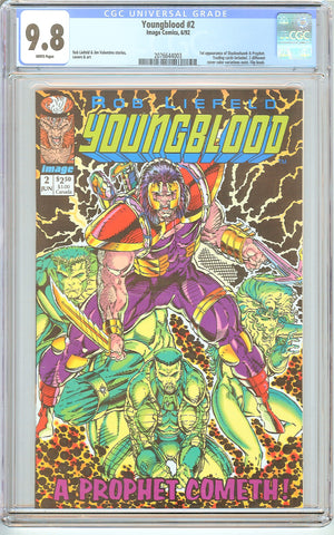 Youngblood #2 CGC 9.8 White Pages (1992) 2076644003