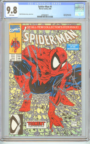Spider-Man #1 CGC 9.8 White Pages (1990) 2076644011 Poly-bag Edition