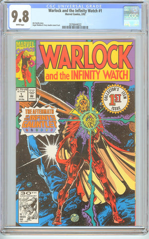 Warlock and the Infinity Watch #1 CGC 9.8 White Pages (1992) 2076644022