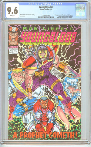 Youngblood #2 CGC 9.6 White Pages (1992) 2076655003