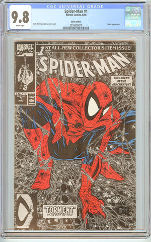 Spider-Man #1 CGC 9.8 White Pages (1990) 2076655010 Silver Edition