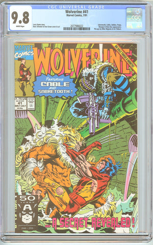 Wolverine #41 CGC 9.8 White Pages (1991) 2077986022