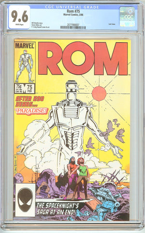 Rom #75 CGC 9.6 White Pages (1986) 2077988007 Last Issue