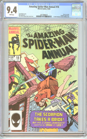 Amazing Spider-Man Annual #18 CGC 9.4 White Pages (1984) 2077988019